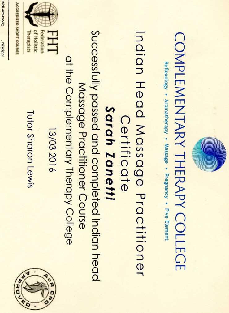 IHM certificate