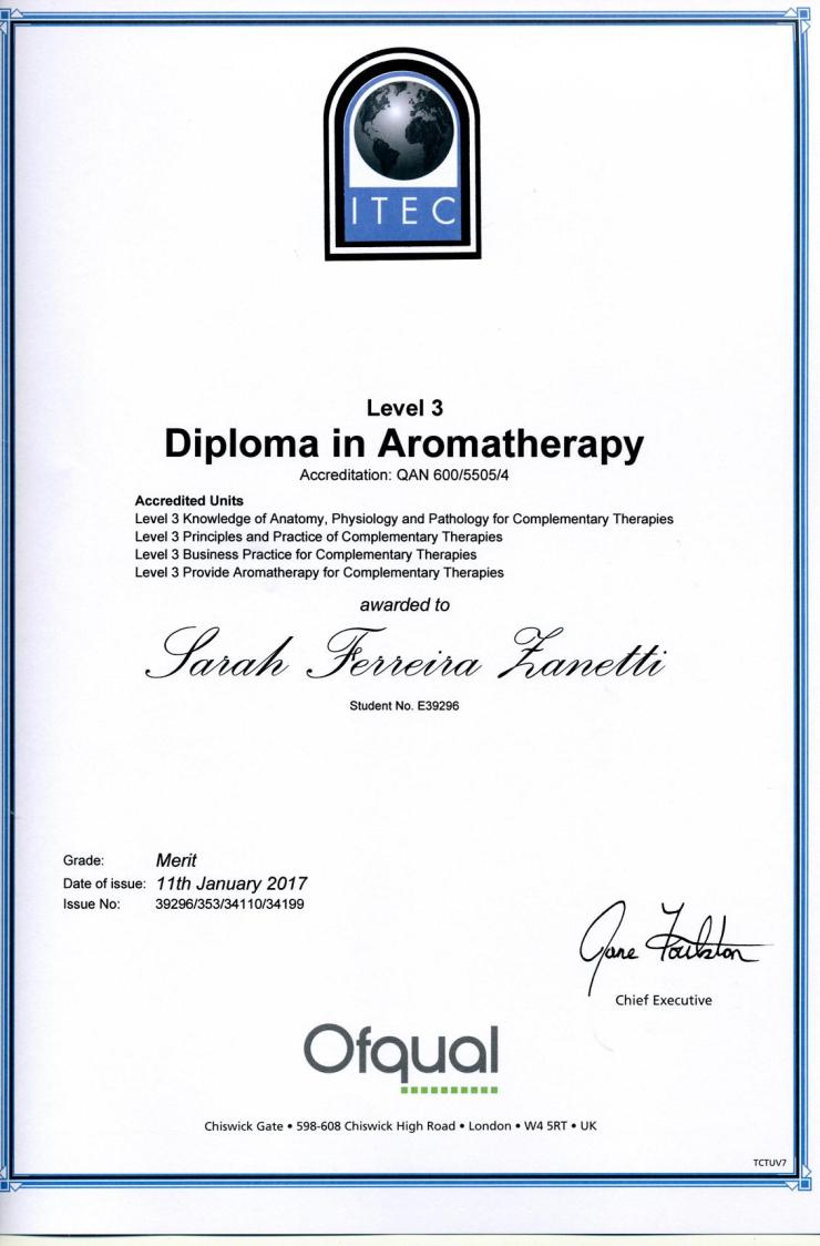 aromatherapy cert437